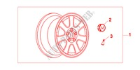 7 SPOKE ALLOY WHEEL 16 X 7JJ pour Honda Voiture CR-V RVI 5 Portes 4 vitesses automatique 2000