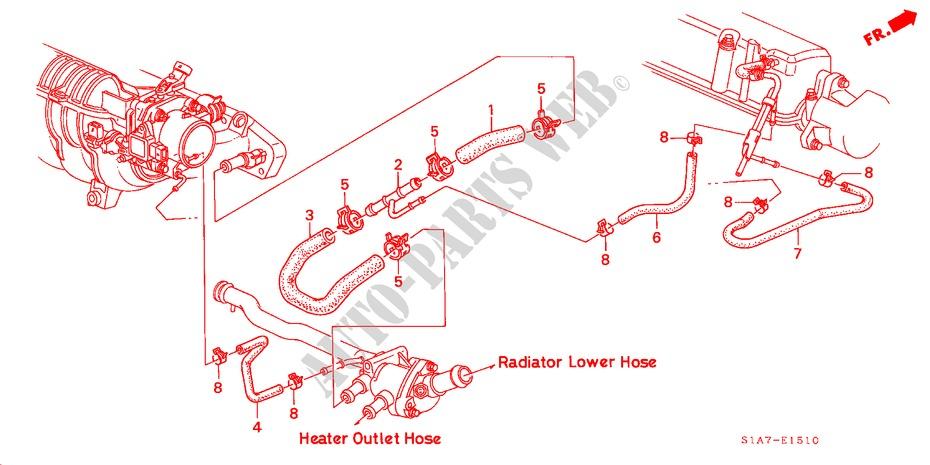 Honda Voiture ACCORD 1999 1.6ILS 5 vitesses manuelles MOTEUR DURIT D'EAU(1.6L)