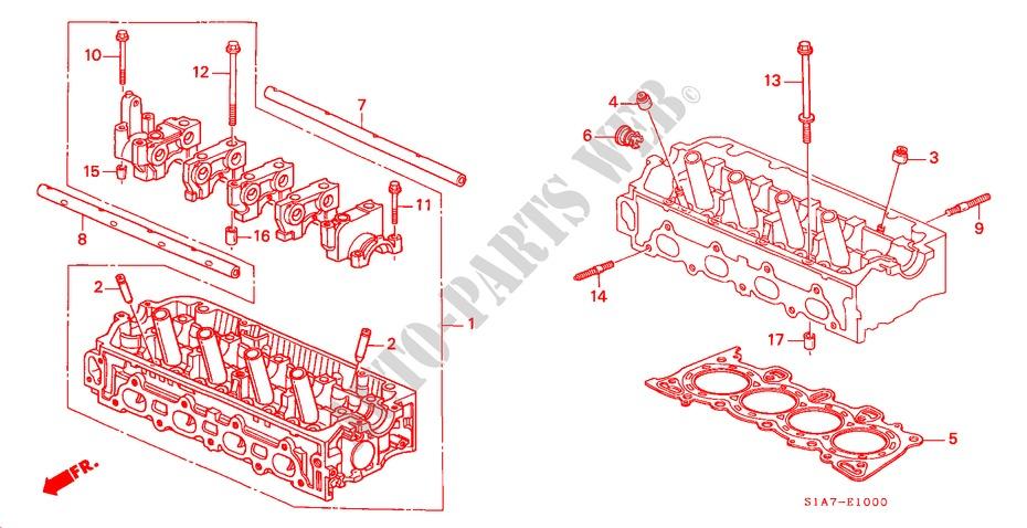 Honda Voiture ACCORD 2000 1.6ILS 5 vitesses manuelles MOTEUR CULASSE(1.6L)