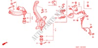 ARTICULATION DIRECTION, FREIN, SUSPENSION ACCORD COUPE honda-voiture 2000 2.0IES B__2700