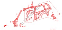 STRUCTURE DE CARROSSERIE(5)(2 PORTES) pour Honda Voiture ACCORD EX 3 Portes 4 vitesses automatique 1989