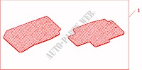 FRONT RUBBER MAT RHD pour Honda Voiture ACCORD 2.0 EXECUTIVE 4 Portes 5 vitesses manuelles 2008