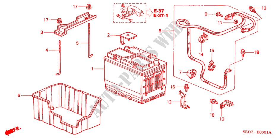 batterie diesel pour honda voiture accord tourer 2 2. Black Bedroom Furniture Sets. Home Design Ideas