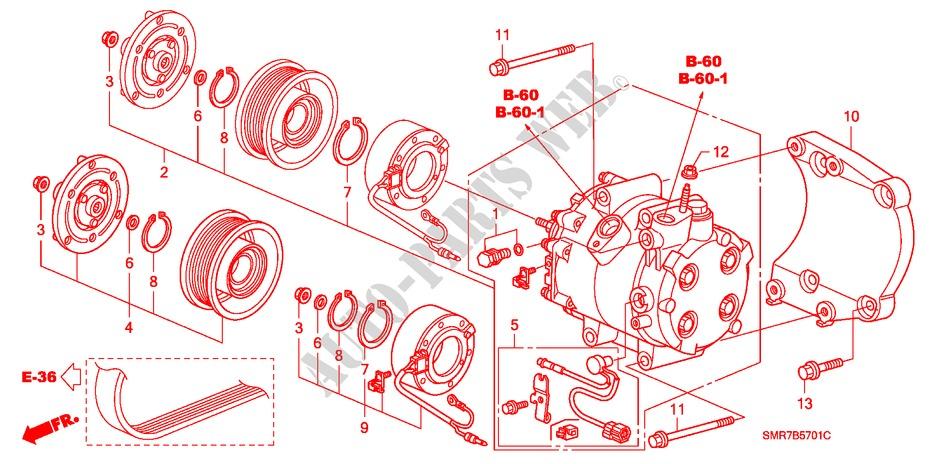 climatiseur compresseur diesel pieces de carrosserie 22 type s 2008 civic honda voiture pi ces. Black Bedroom Furniture Sets. Home Design Ideas